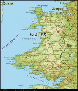 Red dot marks the spot. Llanrhaeadr is only 45 minutes drive from Shrewsbury or Chester