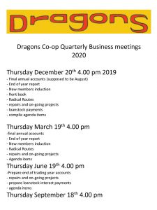 Dragons co-op meetings 2020