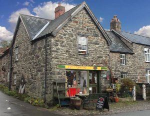 dragons craft shop and co-operative in Llanrhaeadr ym mochnant, Powys, Wales