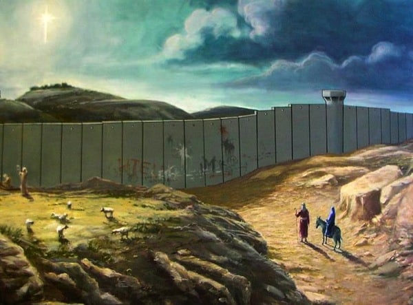 Thanks to Banksy for reminding us that not everyone is free to visit their families